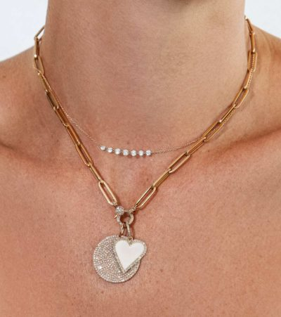 Diamond Heart Charm Necklace
