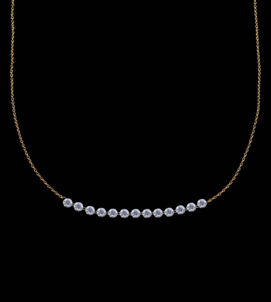 string diamond necklace