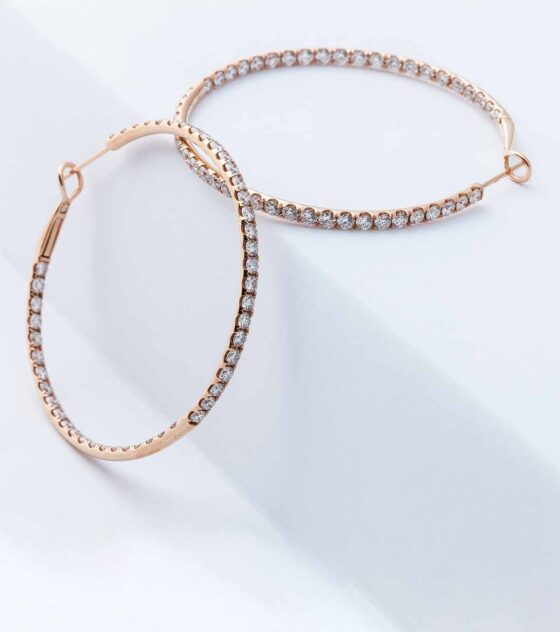 Perfect Diamond Hoop Earrings