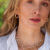 Diamond Heart Hoop Earrings
