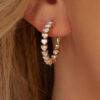 Heart Diamond Hoop Earrings